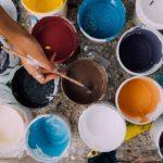 Raumgestaltung, Farbe, Farbtopf, Farbeimer
